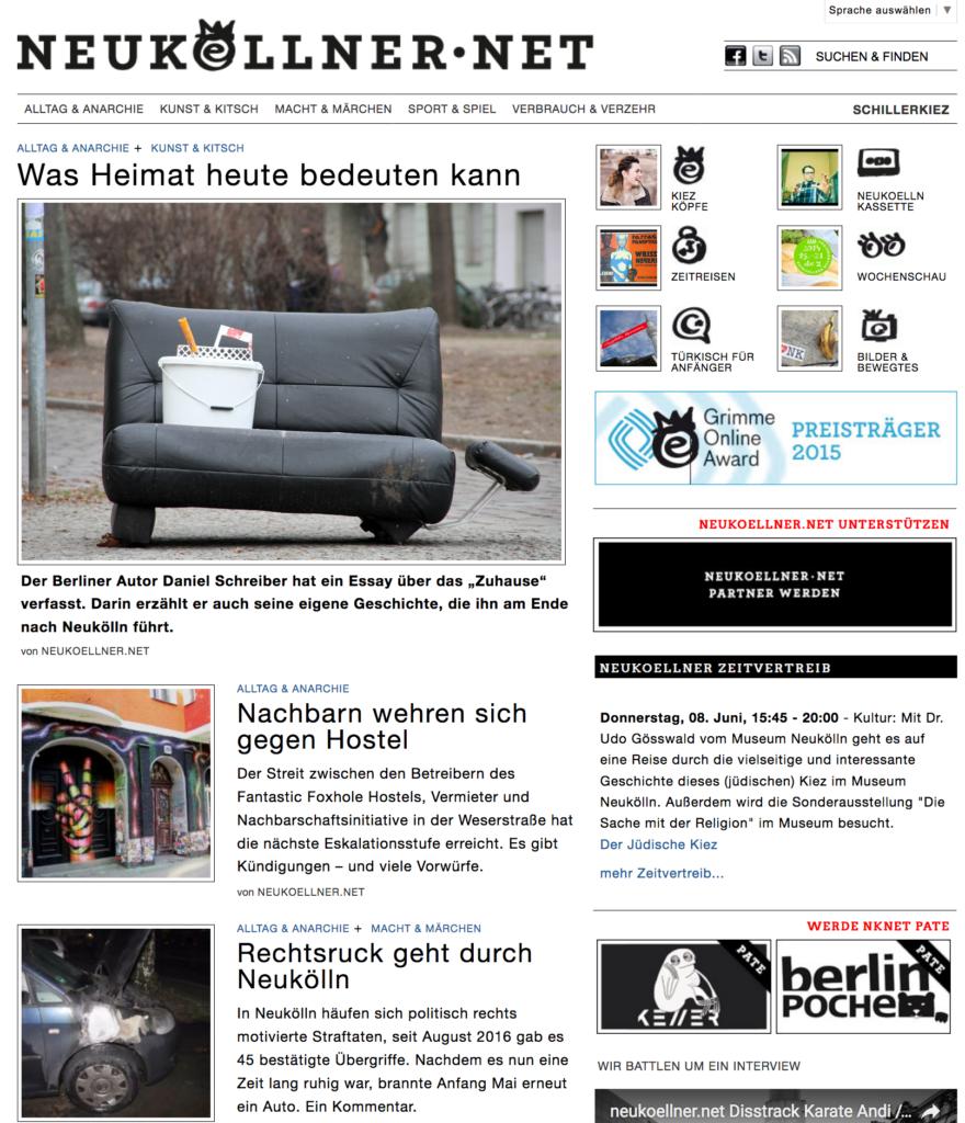 Neukölln, baby! Wir machen Lokaljournalismus, in einem Onlinemagazin.