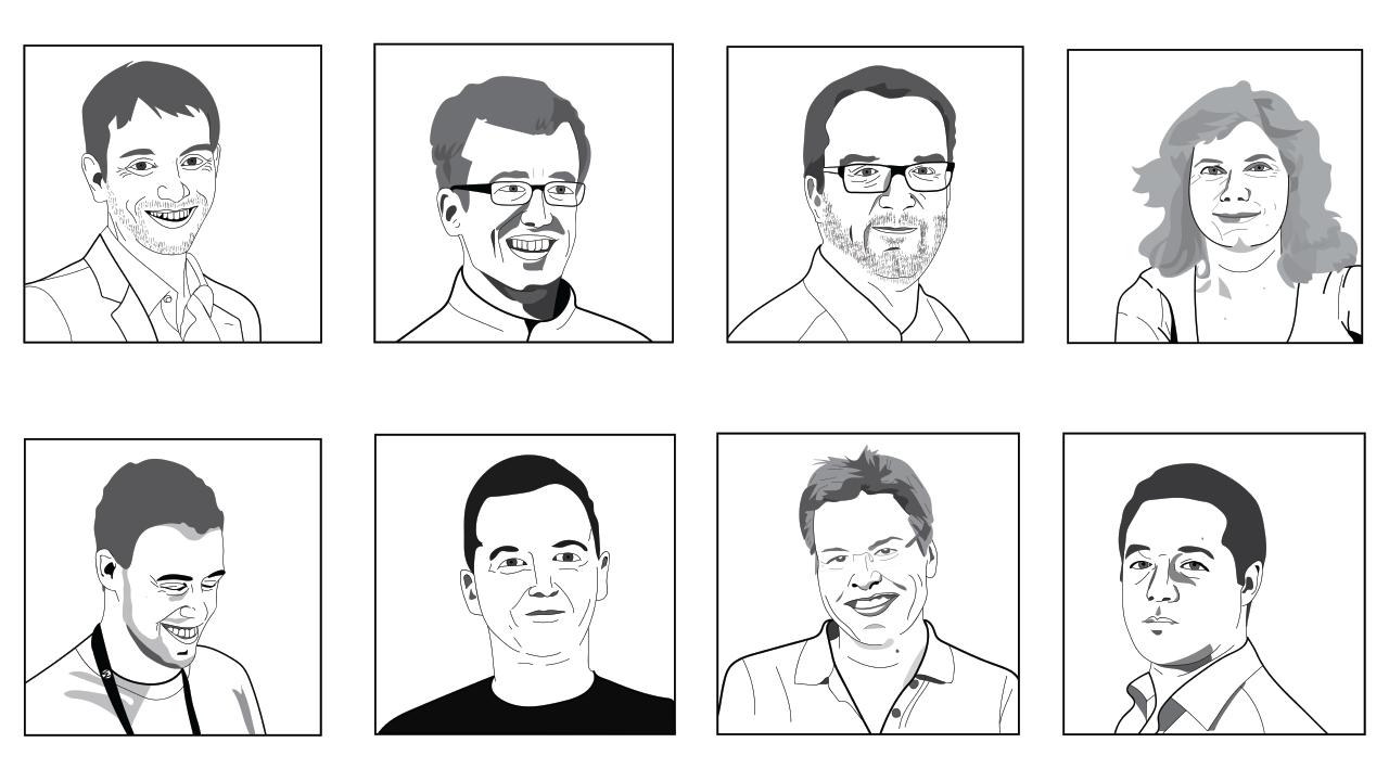 Illustrationen von Gesichtern