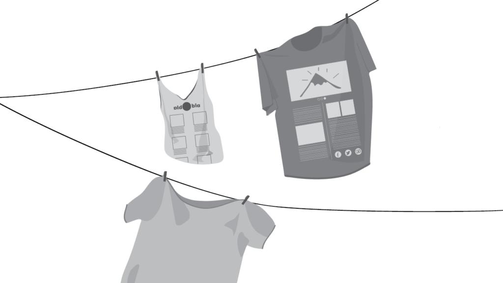Shirts mit verschiedenen Theme Sketches