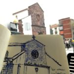 Skizze einer Kirche auf Madeira
